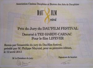 Grand Prix du Jury du Dau'Film Festival pour Lifever